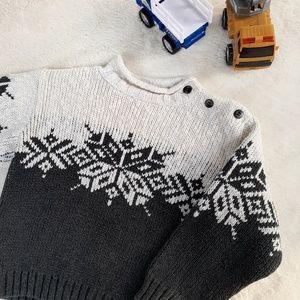 Hanna Andersson Nordic Fair Isle Fall Sweater 90